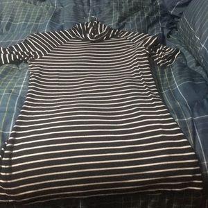 Striped turtleneck black/white